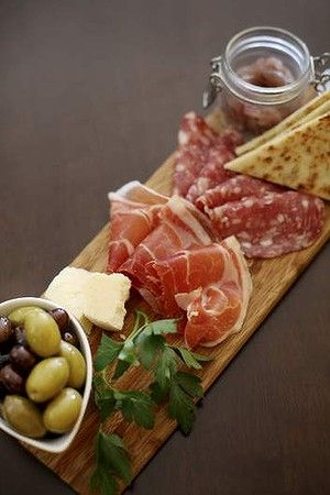 antipasto della casa - I would serve each person his/her own antipasto board.