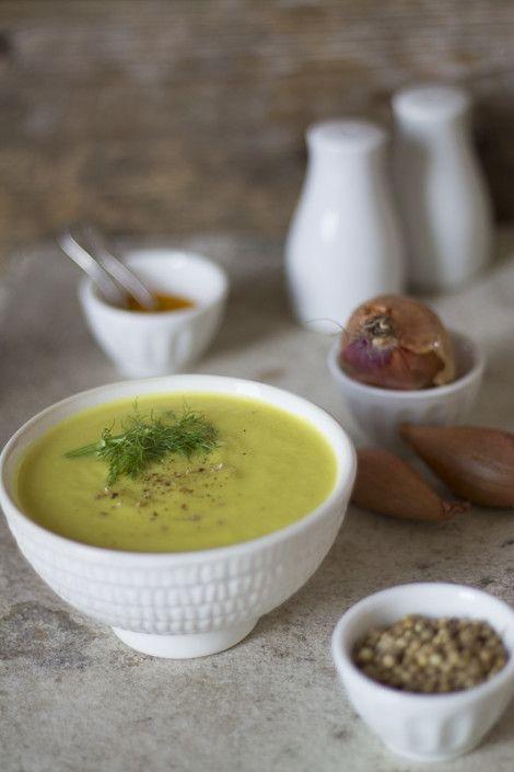 Vellutata di finocchi alle spezie - turmeric and coriander fennel soup