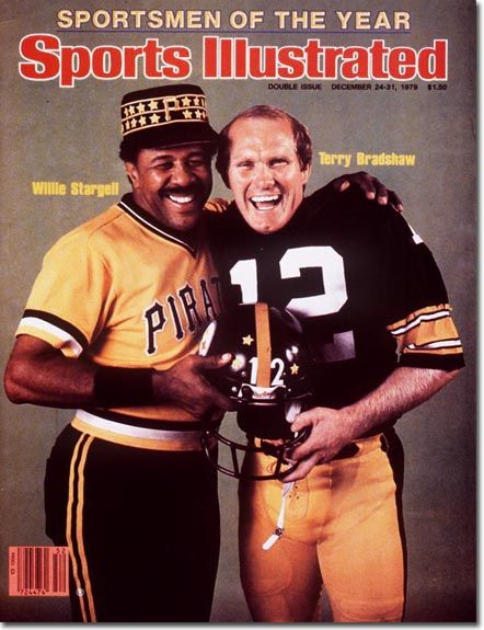 Willie Stargell of the Pittsburgh Pirates & Terry Bradshaw of the Pittsburgh Steelers 1979 S.I. Sportsmen of the Year