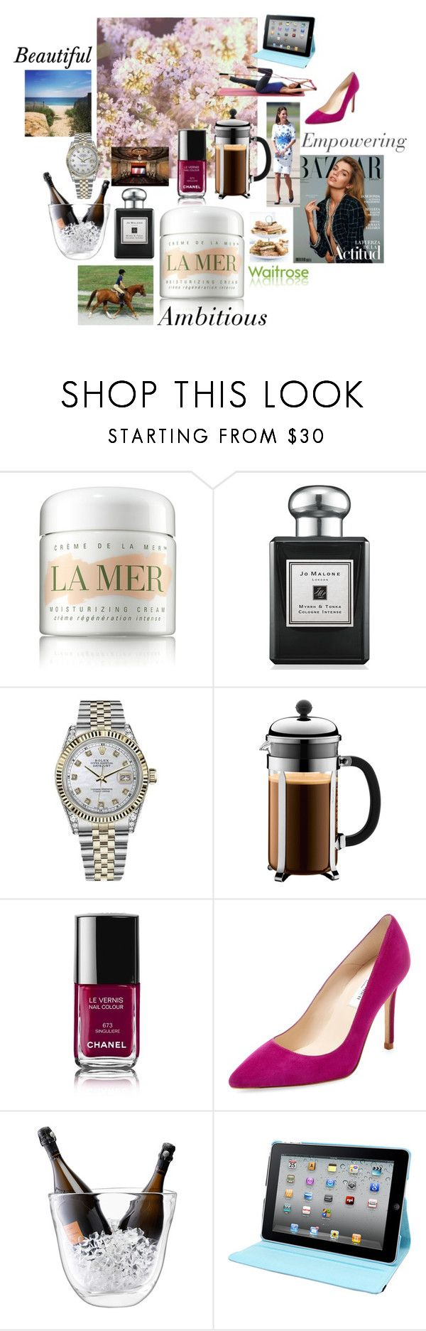 """L K Bennett target consumer"" by emily-hutchin on Polyvore featuring La Mer, CO, Marks & Spencer, castro, Jo Malone, Rolex, L.K.Bennett, Bodum, Chanel and LSA International"