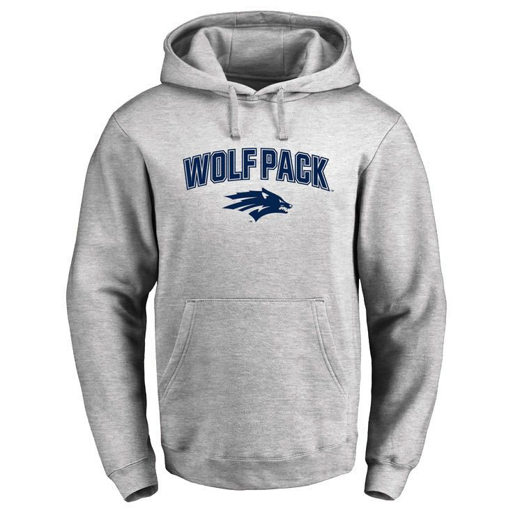 Nevada Wolf Pack Proud Mascot Pullover Hoodie - Ash - $64.99