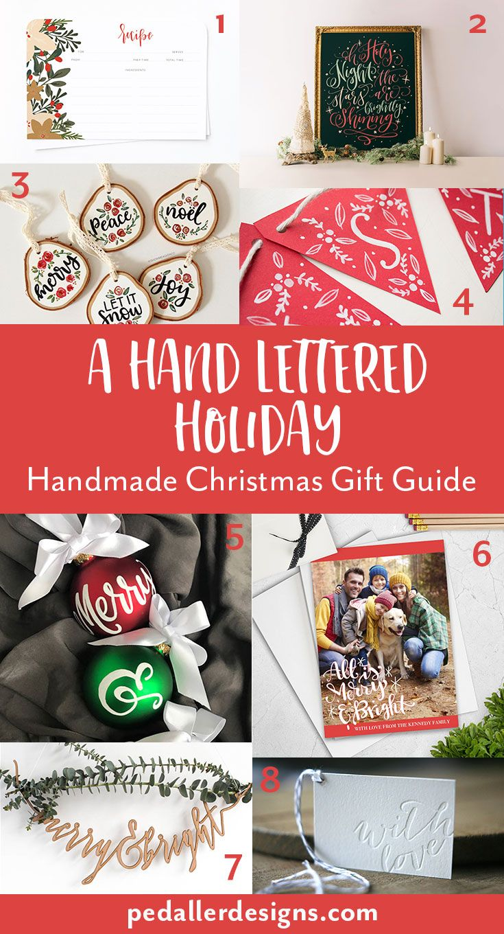 A Hand Lettered Christmas: Handmade Holiday Gift Guide Stumped on what to get someone on your list? or looking for a little something to make this holiday special? I've rounded up some lovely hand lettered goods from around Etsy to make your decisions easy! Check it out on the blog >> https://www.pedallerdesigns.com/blog/2017/11/24/a-hand-lettered-christmas-handmade-holiday-gift-guide