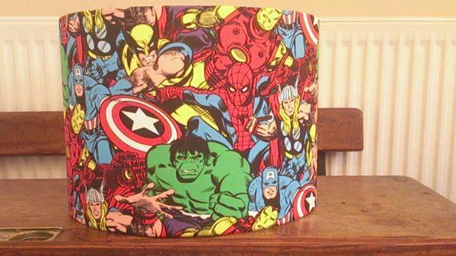 Marvel hero fabric covered lampshade