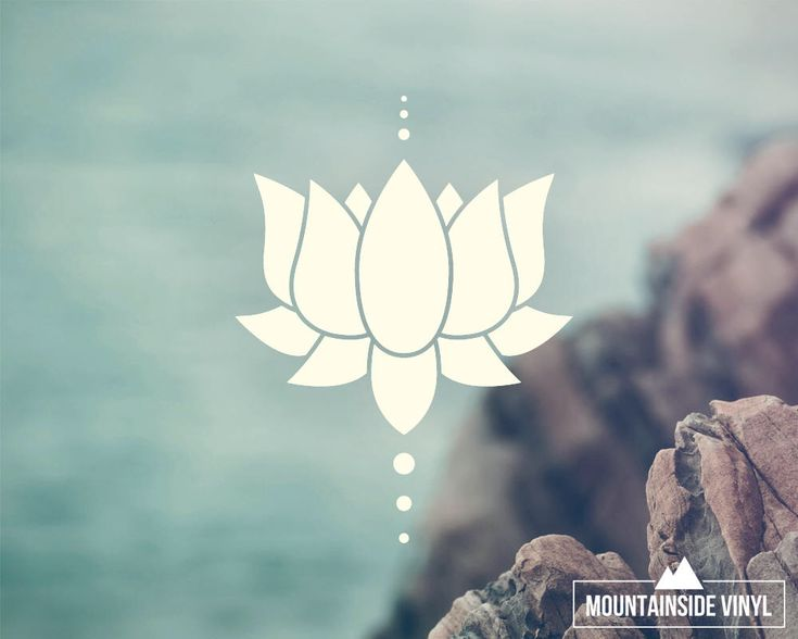 Lotus Flower Vinyl Decal - Vinyl Sticker, Meditation Decal, Yoga Sticker, Car Window Decal, Hydro, Laptop Sticker, Yeti Decal, Tumbler Decal by MountainsideVinyl on Etsy https://www.etsy.com/listing/486408358/lotus-flower-vinyl-decal-vinyl-sticker