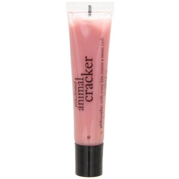 Philosophy lip shine ($10) ❤ liked on Polyvore featuring beauty products, makeup, lip makeup, lip gloss, beauty, lip, lipstick, pink frosted animal cracker, lip shine and philosophy lip gloss