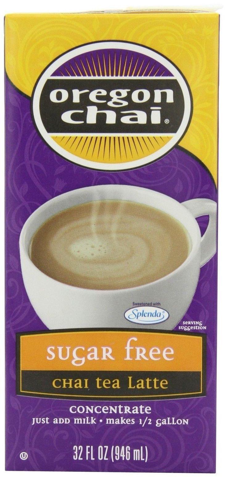 Oregon Chai Sugar Free Chai Tea Latte Concentrate 32-Ounce Boxes (Pack of 6)