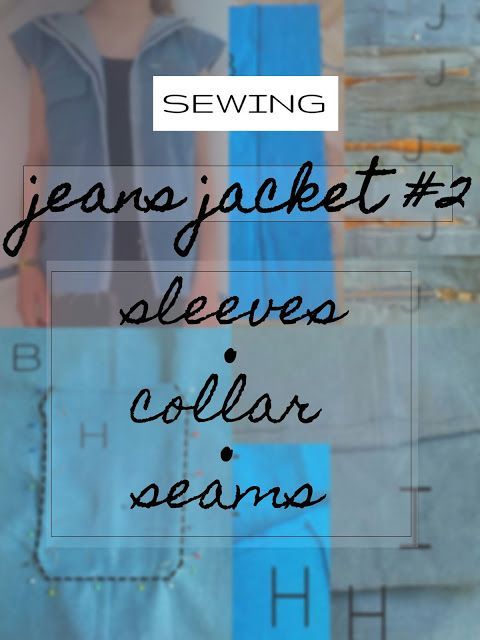 plannedpastel: jeans jacket #2 sleeves, collar and seams
