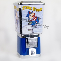 Coin operated fish food dispenser village ideas for Fish food dispenser