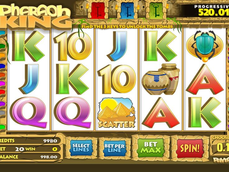 Pharaoh King - http://freeslots77.com/pharaoh-king/ - You might have played many slot games decorated with the Egyptian theme, but free Pharaoh King online slot game introduced by Betsoft will give quite a different experience of playing a popular game online along with the opportunity to win a huge progressive jackpot. The five-reel and...