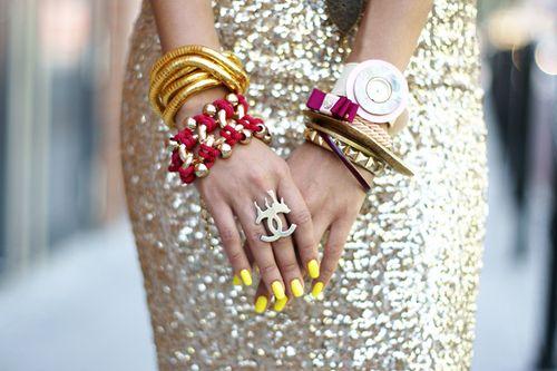 Accessorize your glitter.