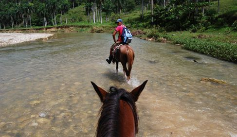 Riding with Rancho Montana in the Dominican Republic.