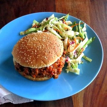 Skinny Sloppy Joes with Tangy Slaw (pressure cooker   Recipe   Home ...