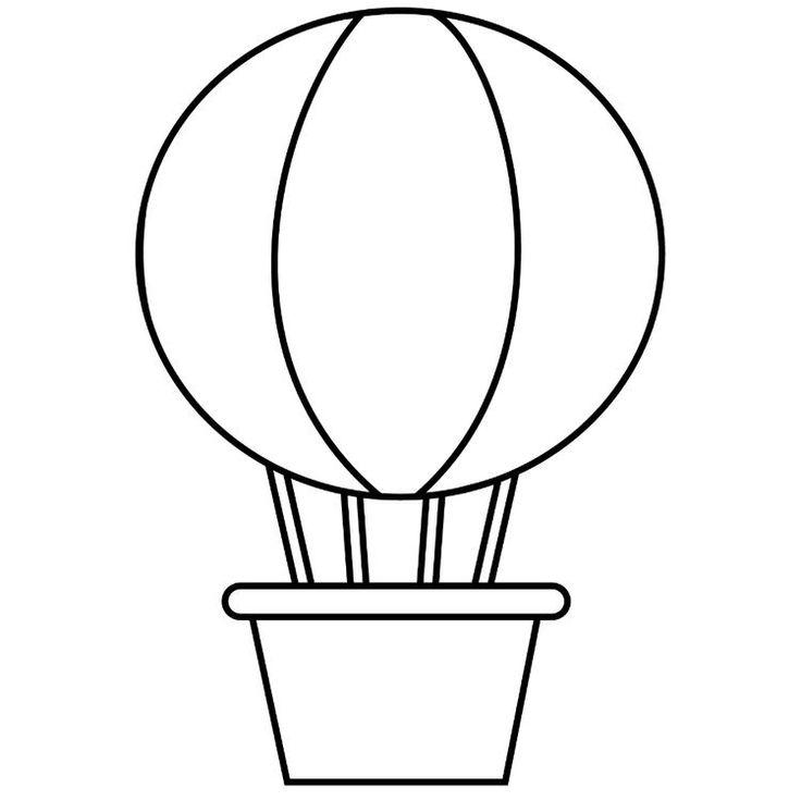 тебя картинки раскраски воздушный шар с корзиной менее