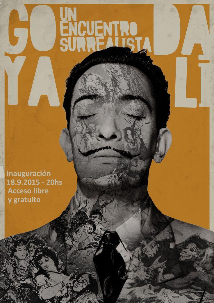 """Poster for event """"Goya - Dalí, a surreal encounter""""  Poster para el evento Goya - Dalí, un encuentro surrealista"""""""