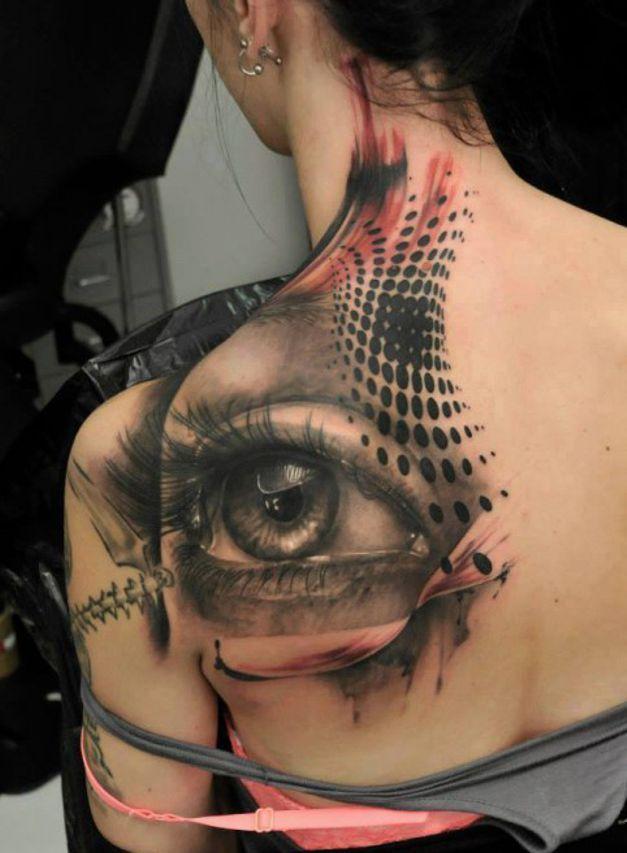 eye #tattoo on back for girl