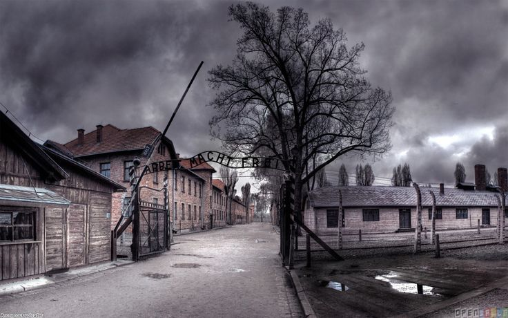 Auschwitz concentration camp....  Want to go here and see it. Always been fascinated with WWII. Would love to just go and experience this