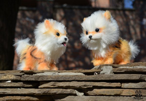 Poseable Toy Commission couple  Arcanine by MalinaToys.deviantart.com on @DeviantArt