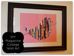 Magazine Wall Art! Don't want to spend the time to make it yourself? Creations by Ra-Re have them for sale