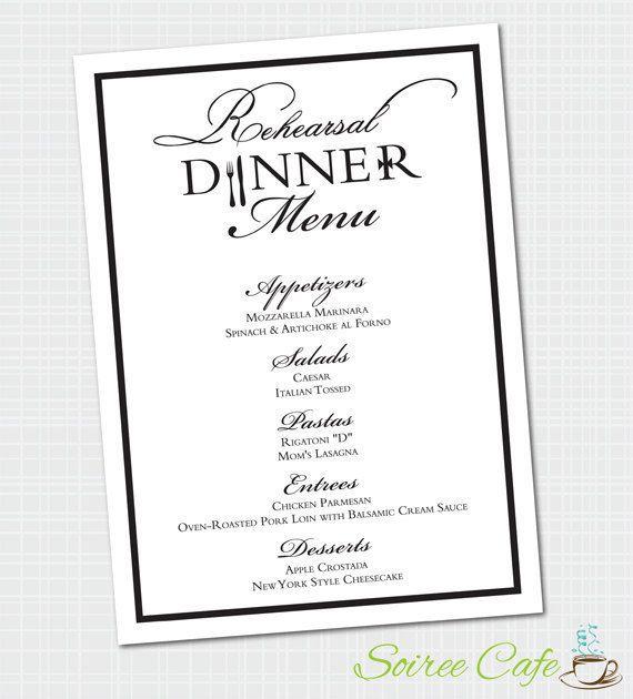 Πάνω από 25 κορυφαίες ιδέες για Rehearsal dinner menu στο Pinterest - dinner menu
