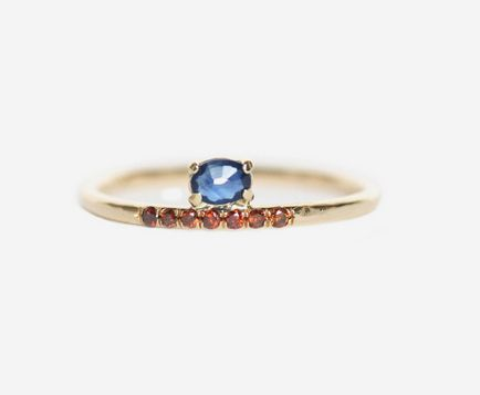 Sapphire and Red Diamond Ring, $870 | 45 Engagement Rings That Don't Suck