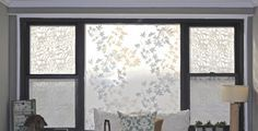 Starching sheer fabric to windows... what a great idea. Lots of other good craft ideas on this blog.