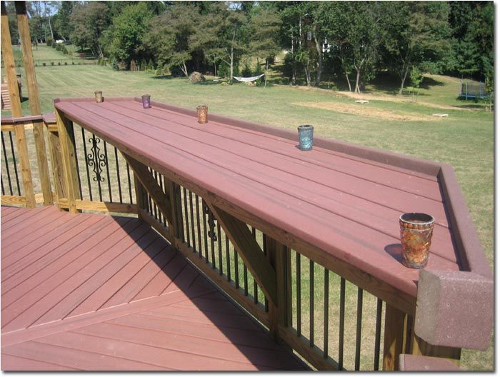 Deck Franchising.- Great Fit Great Fit - Trex elevated bar rail. Uniquely attractive and functional. Great Fit. Gallery