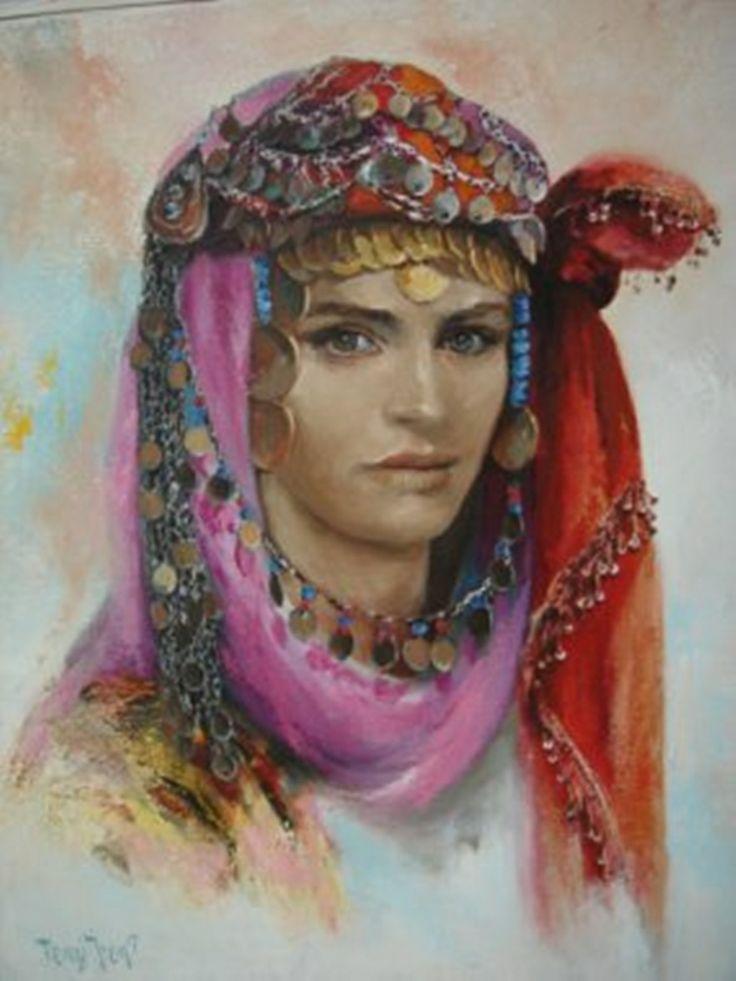 .Remzi Iren -.Turkish Painter Anatolia headband