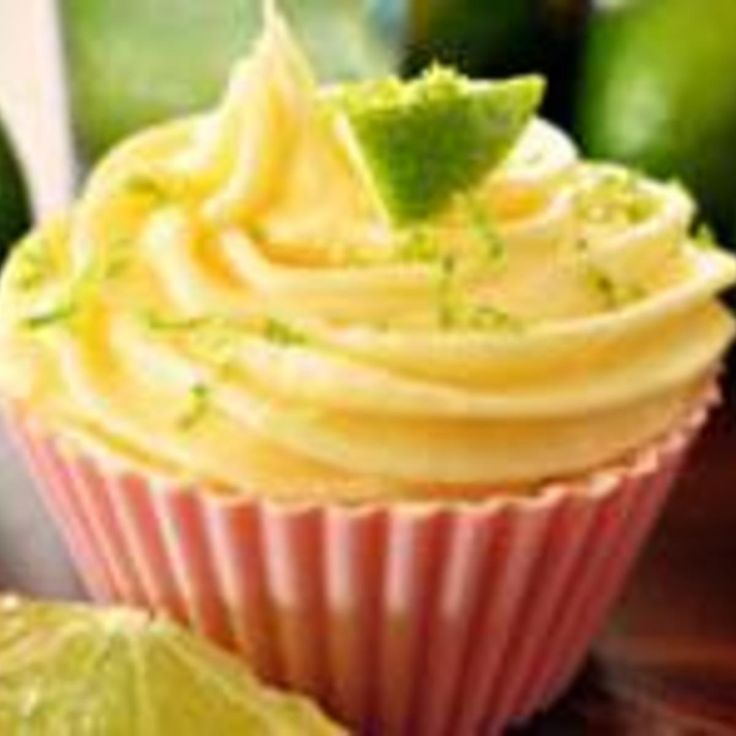Lime and Coconut Cupcakes with Malibu Frosting