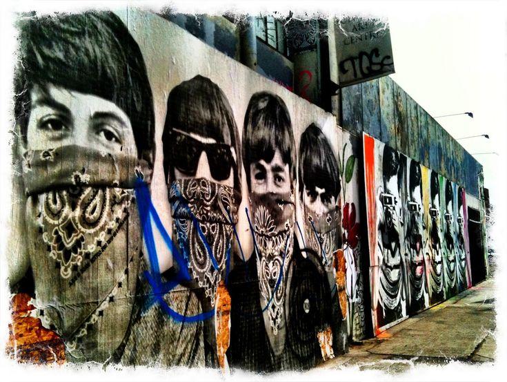 cool street art | Beatles Street Art on La Brea, LA - by Mr. Brainwash (or Banksy...)