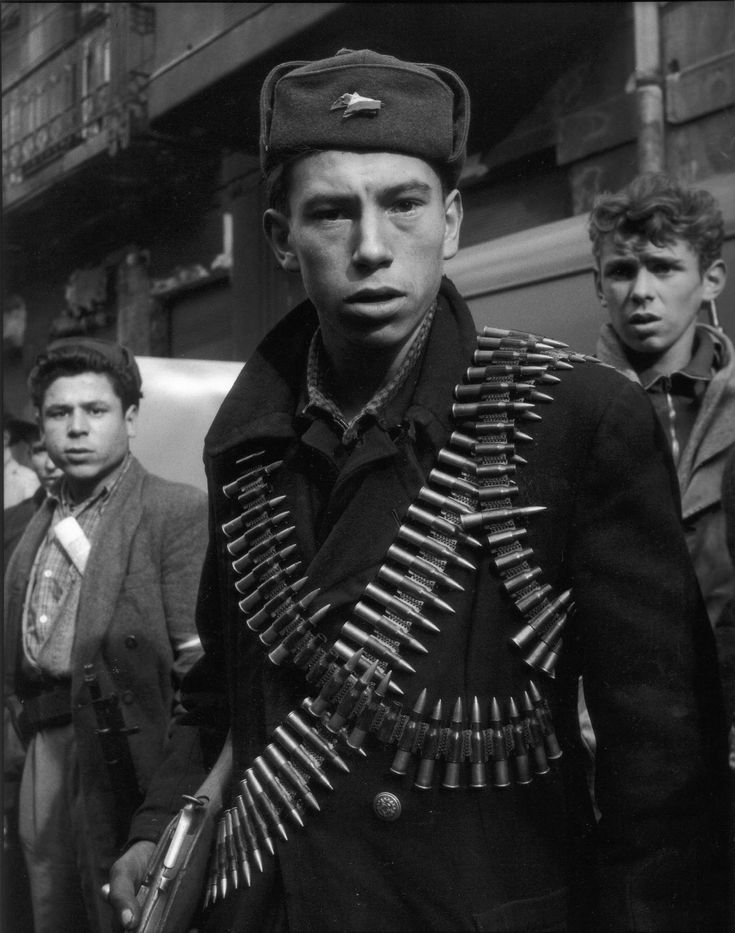 A Hungarian freedom fighter, photographed by Mario de Biasi (October 1956)