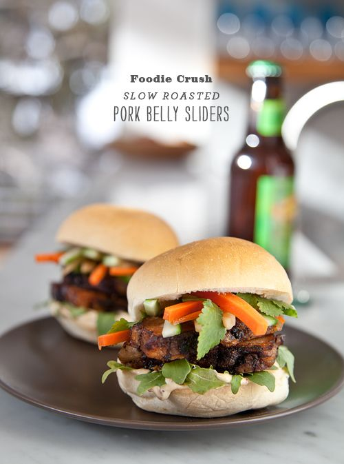 Pork Belly Sliders with Asian Slaw and Chipotle Mayo will WOW your ...