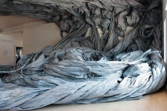 Paper Sculptures - In Response to Shoshone Falls