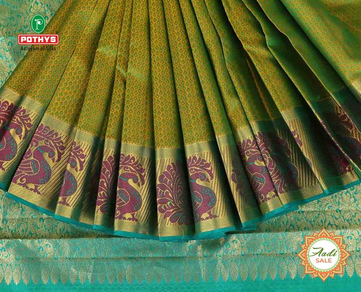This green colored parampara pattu with peacock designs in the border and fancy designs in the pallu will create a name for yourself.