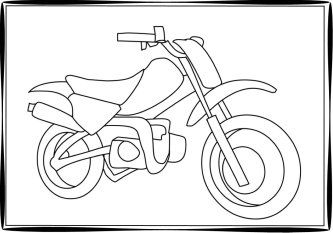 dirt bike coloring page