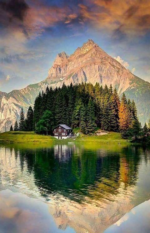 Mountain nature scene