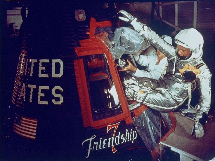 See historical photos of John Glenn, one of NASA's original seven astronauts and the first American to orbit Earth.