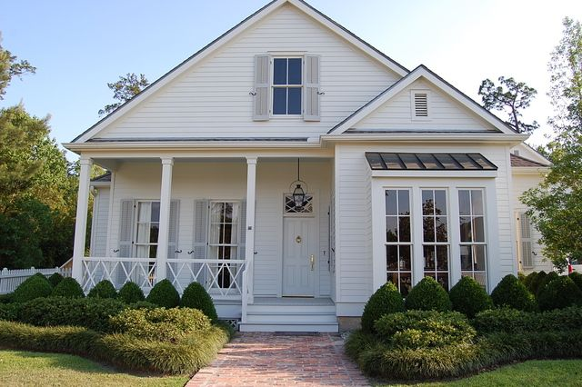 Beautiful Little Home, Windows, Shutters, Small Porch, Landscaping