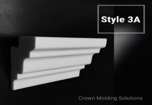 4 Inch flat back foam crown moldings - Crown molding solutions