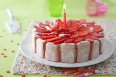 Recette de Fraisier aux biscuits roses de Reims