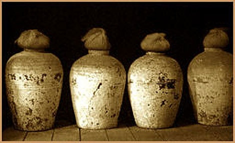 The Romans were able to perfect wine production. These are wine jars that they discovered improved the taste of wine with age.