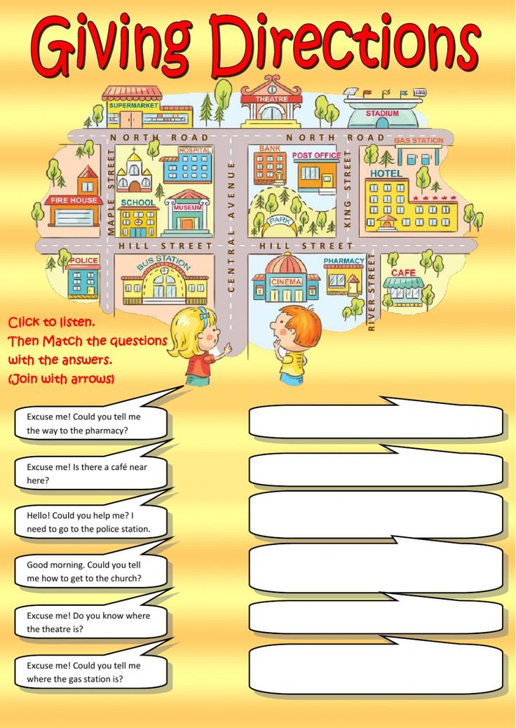 Giving directions interactive and downloadable worksheet. Check your answers online or send them to your teacher.