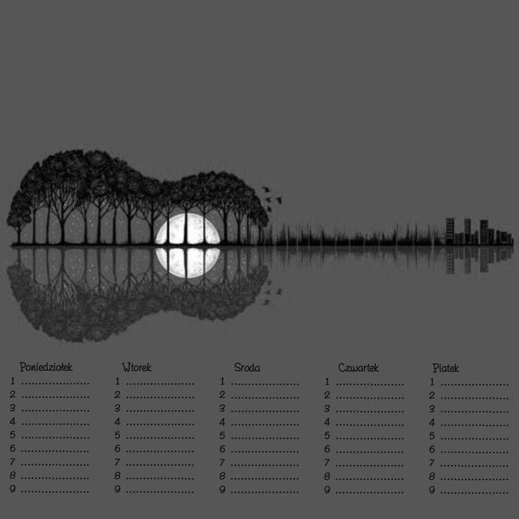 Plan lekcji - Muzyka - Gitara
