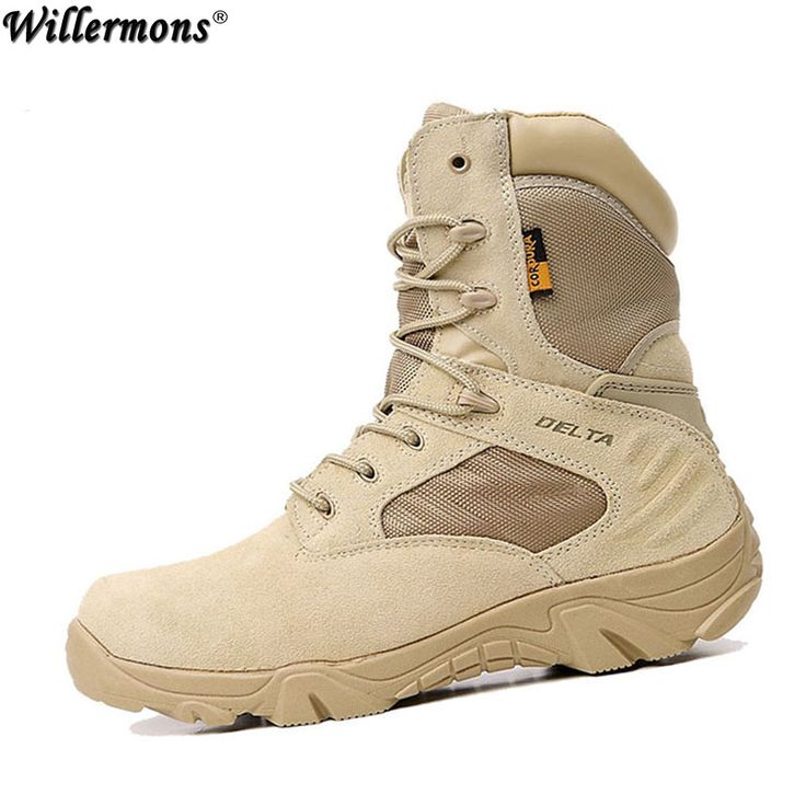 Summer Men's Desert Camouflage Military Tactical Boots Men Outdoor Combat Army Boots Botas Militares Sapatos Masculino -*- AliExpress Affiliate's buyable pin. Locate the offer on www.aliexpress.com simply by clicking the image #MensSafetyBoots