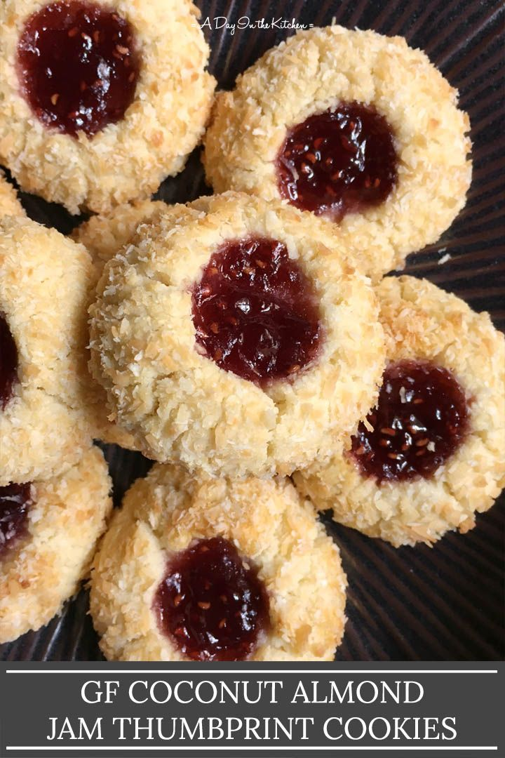 Coconut Almond Jam Thumbprint Cookies Recipe Jam Thumbprint