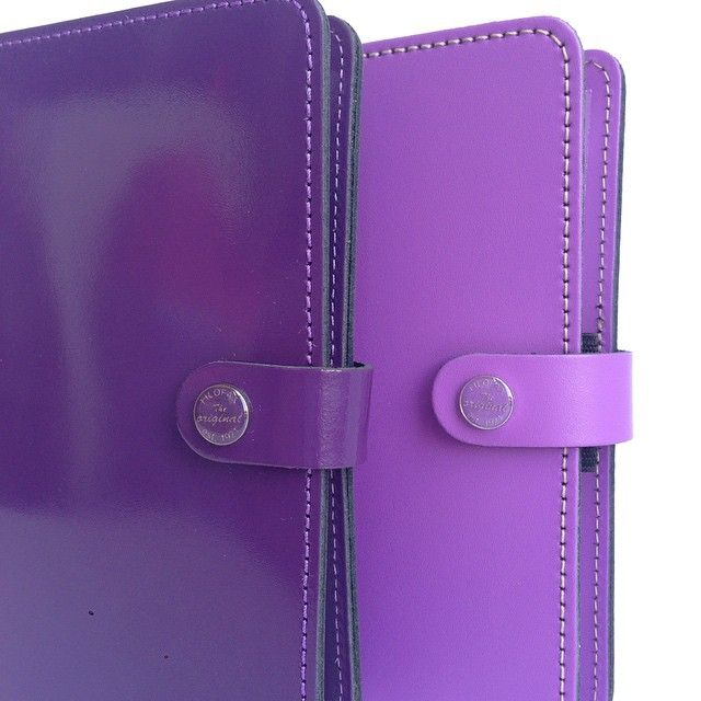 "Filofax ""The Original"" in Patent Purple and Lilac"