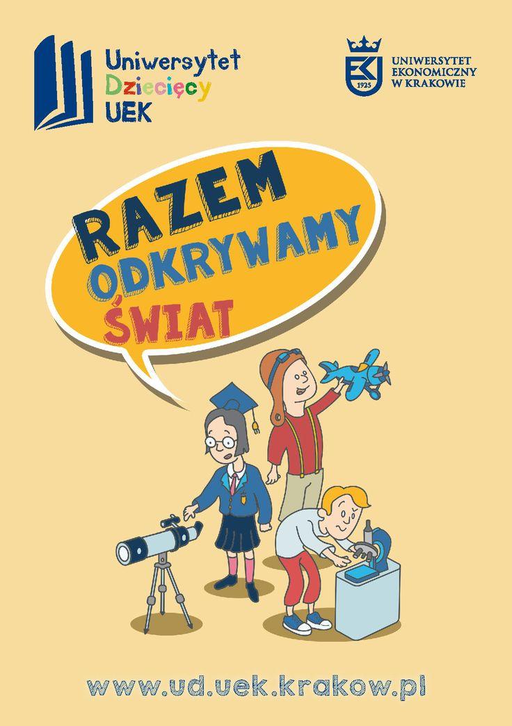 illustration and a leaflet for a children university