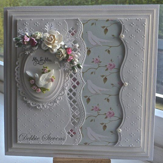 Mr. & Mrs. card... beautiful use of Spellbinders products