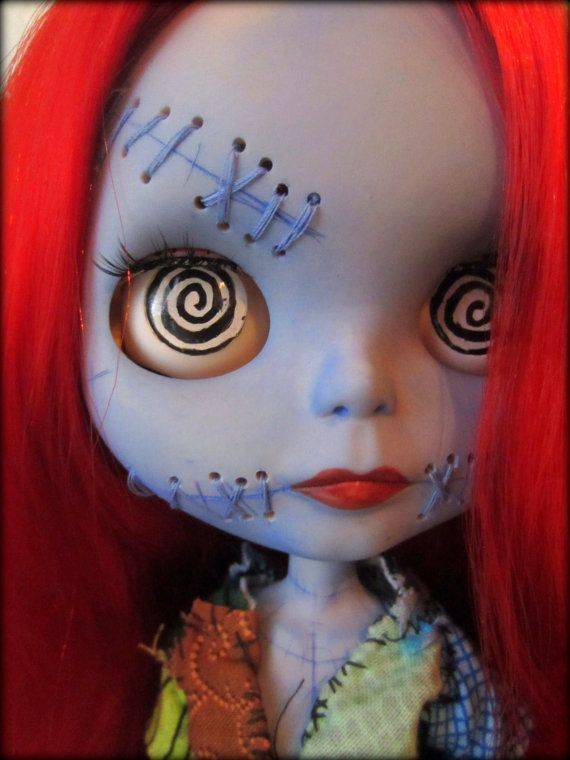 Sally a Custom Blythe Art Doll Inspired by Tim by shepuppy on Etsy, $600.00