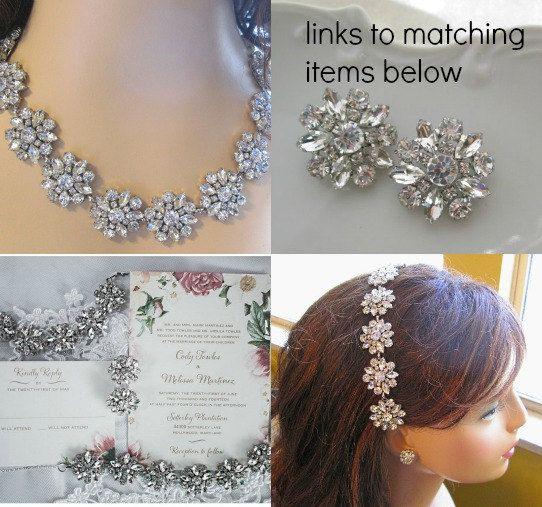 Chunky bracelet Wedding Bracelet Bridal Jewelry by MissJoansBridal