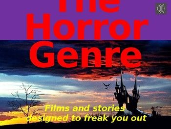 Horror genre lesson - Literary features and storytelling t